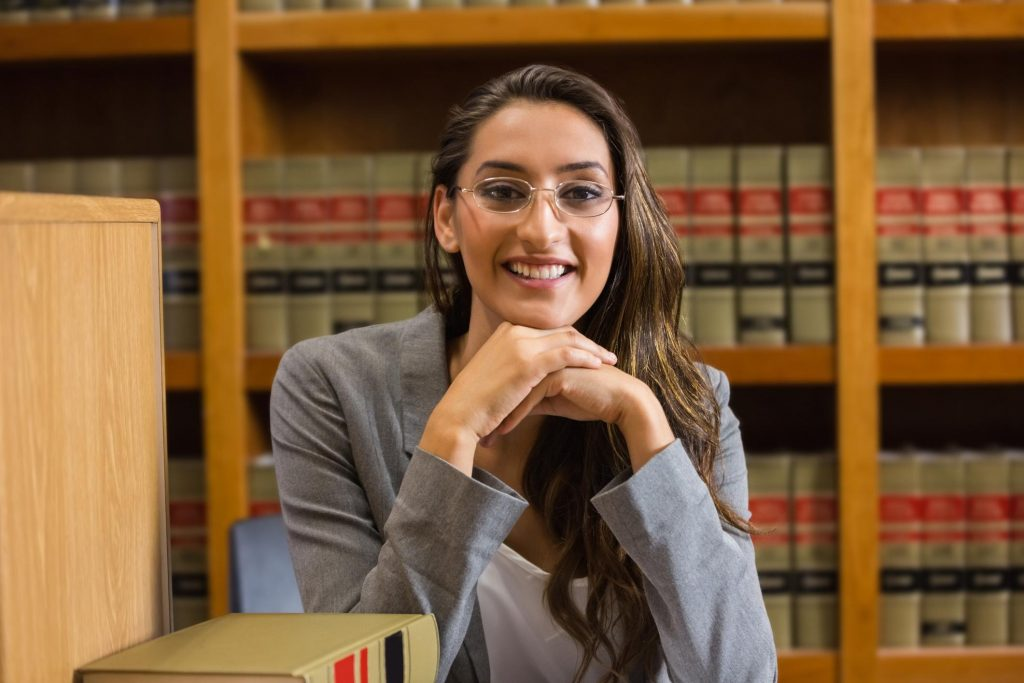 smiling young female attorney